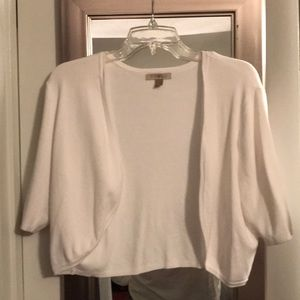 White short sleeve shrug